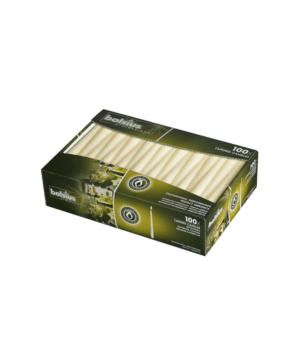 Bolsius Tapered Dinner Candle Ivory (240mm X 23mm) QTY 100