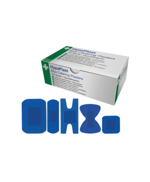 100 mixed blue detectable plasters