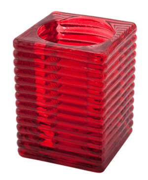 Highlight' Candle Holder Red (6Pcs) - Case Qty 1