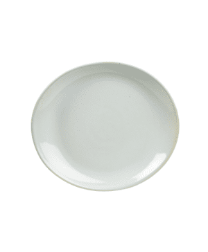 Terra Stoneware Rustic White Oval Plate 21x19cm - Case Qty 12