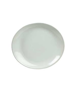 Terra Stoneware Rustic White Oval Plate 25x22cm - Case Qty 12
