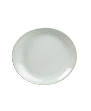 Terra Stoneware Rustic White Oval Plate 29.5 x 26cm - Case Qty 12