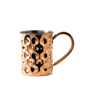 Solid Copper Slim Dented Mug