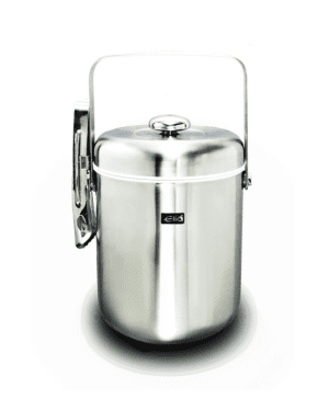 Elia Ice Pail Satin St/Steel Body with ice tong 1.3lt 45.75oz - Case Qty 1