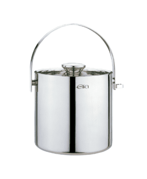 Elia Ice Pail Double Wall St/Steel with ice tong 2lt 3.5pt - Case Qty 1