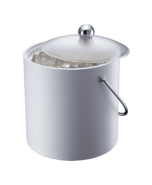 Elia Insulated Ice Bucket with Scoop White 3lt 5.25pt - Case Qty 1