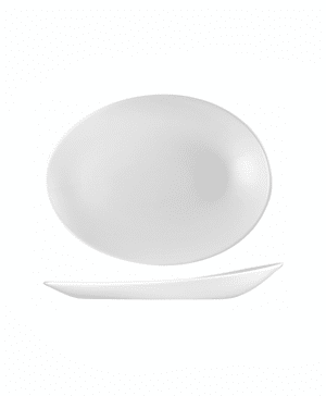 Churchill Orb Oval Plate 34.6cm x 26.3 x 5cm - CASE QTY 12