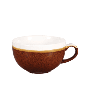 Churchill Monochrome Cinnamon Brown Cappuccino Cup 34cl 12oz H: 6.5cm Dia: 11cm