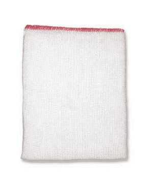 Dish cloth stockinette red 12x16