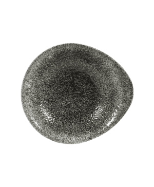 Churchill Raku Quartz Black Round Dish - 16 x 14.5cm -  Case Qty 12