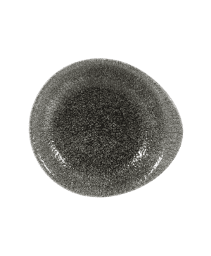 Churchill Raku Quartz Black Round Dish - 18.5 x 16.8cm - Case Qty 12