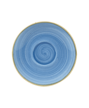 "Churchill Stonecast Cornflower Blue Cappuccino Saucer - 15.6cm 6¼"" - Case Qty 12"