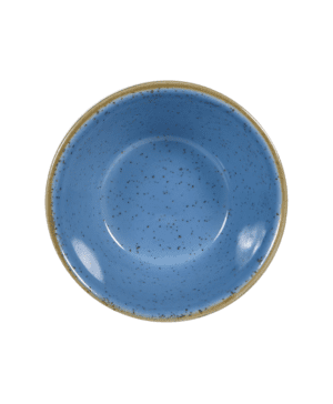 Churchill Stonecast Cornflower Blue Sauce Dish - 9cl 3oz - Case Qty 12