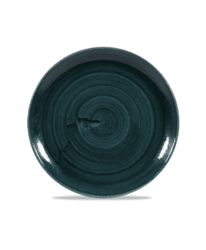"""Churchill Stonecast  Patina Rustic Teal Coupe Plate - 28.8cm 11¼"""" - Case Qty 12"""