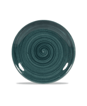 """Churchill Stonecast  Patina Rustic Teal Coupe Plate - 16.5cm 6½"""" - Case Qty 12"""